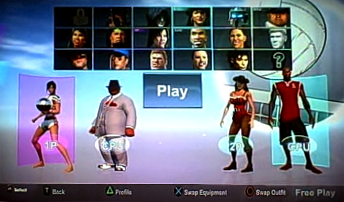 Avatar Selection Screen Beach Volleyball