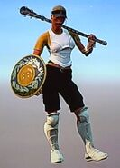 Outfit boomer gold gladiator duel