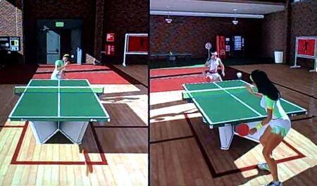 Table tennis splitscreen giselle rin recroom