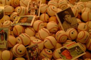 Baseballs and cards-2610