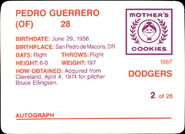 1987 Mothers Dodgers Back