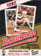 1992 Bowman Baseball Box
