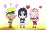 Sasuke with his teammates