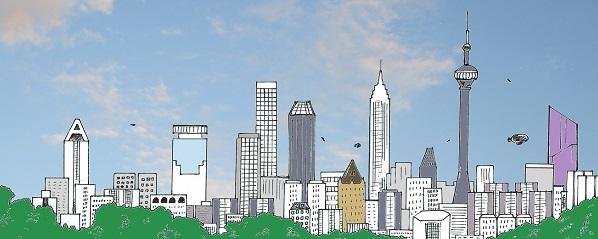Quadropolis skyline