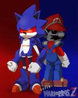 Mecha Combo Mario and Sonic by JoeAdok