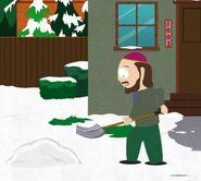 Gerald shoveling