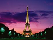 Eiffel tower at night paris france-normal