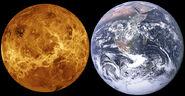 Venus, Earth size comparison