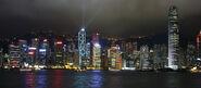 Hong Kong skyline night lights