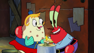 Poppy and eugene krabs in whirly brains