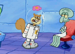 Sandy Angry At Squidward