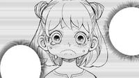 Young Anya crying