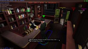 Toby tending bar