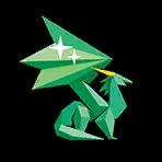 Crystal Dragon Statue sticker