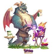 Spyro Sparx Gavin ReignitedArt