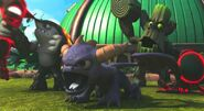 Terrafin, Spyro, and Stump Smash