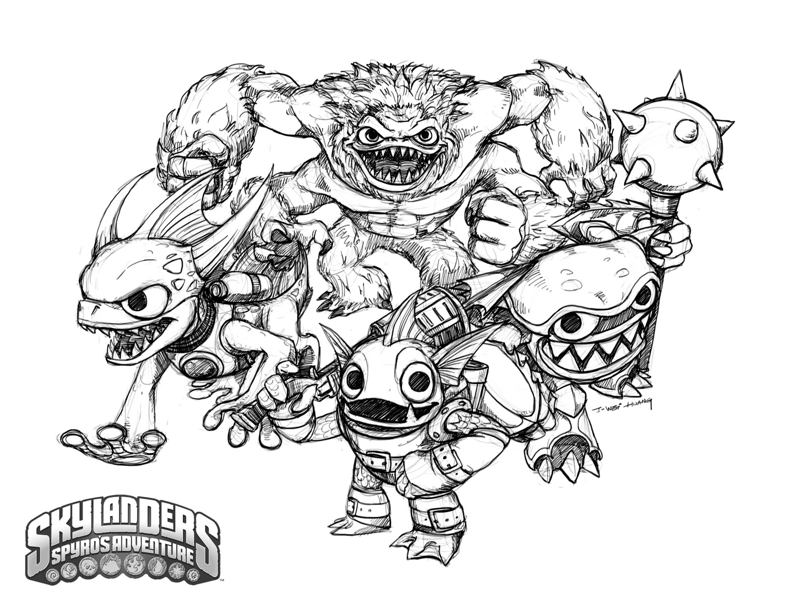 Best Coloring Pages Skylanders Trap Team Gallery - Professional ...