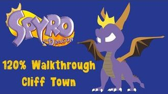 Spyro the Dragon 120% Walkthrough - 9 - Cliff Town