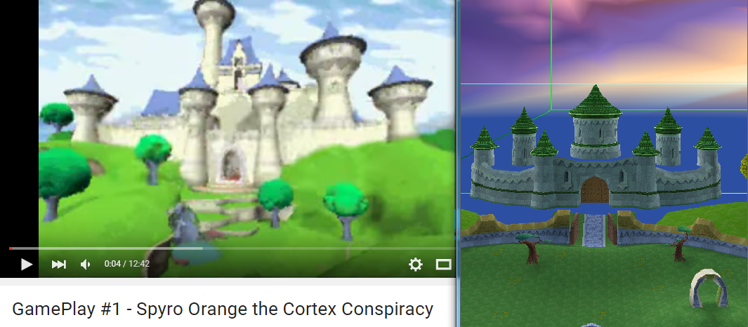 spyro orange castle vs spyro 3 castle the dragon realmspng