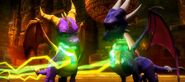 Spyro Cynder GreenCollars