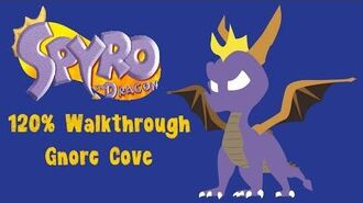 Spyro the Dragon 120% Walkthrough - 32 - Gnorc Cove