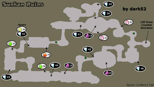 Map sunken ruins