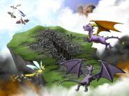 SpyroCynder Sparx Destroyer Guardians