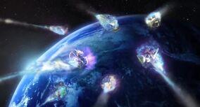 Skylanders entering Earth