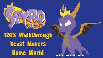 Spyro the Dragon 120% Walkthrough - 19 - Beast Makers Home World