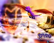SpyroCynder DawnoftheDragon wallpaper