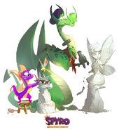 Spyro Nils Sparx ReignitedArt