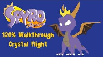 Spyro the Dragon 120% Walkthrough - 17 - Crystal Flight