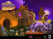 Spyro in Fireworks Factory Desktop Wallpaper