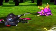 Spyro Cynder Sparx crash