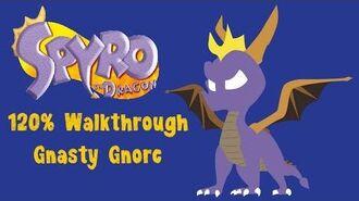Spyro the Dragon 120% Walkthrough - 34 - Gnasty Gnorc