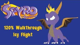 Spyro the Dragon 120% Walkthrough - 29 - Icy Flight