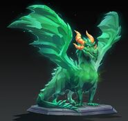 Crystal Dragon Statue Reignited Concept Art