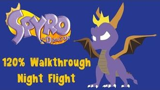 Spyro the Dragon 120% Walkthrough -11 - Night Flight