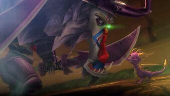 Gaul's replica attacking Spyro