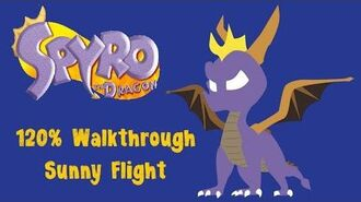 Spyro the Dragon 120% Walkthrough - 5 - Sunny Flight