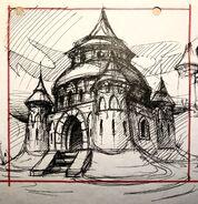 Spyro Castle Concept Art by John Fiorito