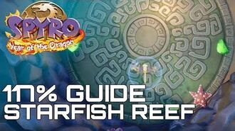 Spyro 3 Year Of The Dragon (Reignited) 117% Guide STARFISH REEF (ALL EGGS, GEMS...)