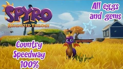 Spyro Reignited Trilogy Year Of The Dragon Country Speedway 100%