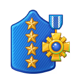 Badge Military Level 95