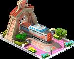 Bronze Turbotrain Locomotive Arch