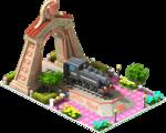 Bronze Former Locomotive Arch