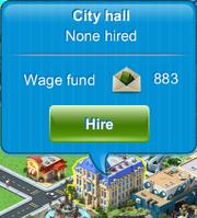 City hall dialog