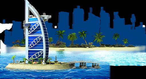 Island Hotel Artwork