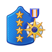 Badge Military Level 105