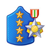 Badge Military Level 96